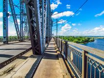 A walk across the bridge Royalty Free Stock Photos