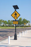 Walk Ahead sign in a popular area. A Walk Ahead sign in a popular area in downtown St. Petersburg, FL stock photos