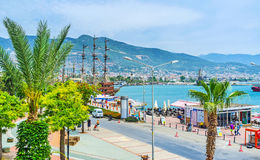 Walk in Alanya port Stock Photography