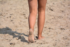 Walk along the beach Stock Photos