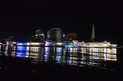 Night quay stock photography