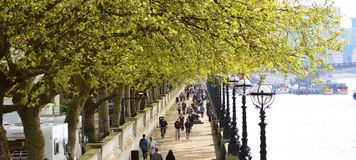 Walk along Thames Stock Photography