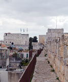 Walk Along Walls of Ancient City, Jerusalem, Israel Royalty Free Stock Photo