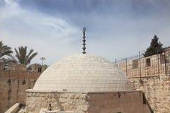 Walk along the walls of ancient Jerusalem Stock Photos