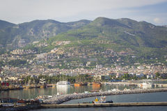 Walk around Alanya. Panoramic views of the city of Alanya in Turkey Stock Photography