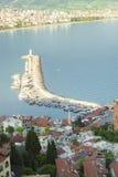 Walk around Alanya. Panoramic views of the city of Alanya in Turkey Stock Photo