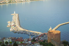 Walk around Alanya. Panoramic views of the city of Alanya in Turkey Royalty Free Stock Images