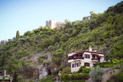 Walk around Alanya. Panoramic views of the city of Alanya in Turkey Stock Images