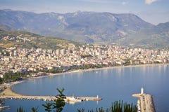 Walk around Alanya. Panoramic views of the city of Alanya in Turkey Royalty Free Stock Image