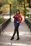 Walk in the autumn park Stock Photo