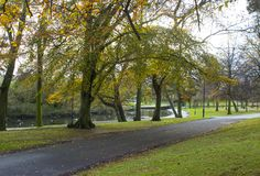 A walk in Autumn through Ward Park in Bangor County Down in Northern Ireland Royalty Free Stock Images