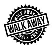 Walk Away rubber stamp. Grunge design with dust scratches. Effects can be easily removed for a clean, crisp look. Color is easily changed Royalty Free Stock Photo
