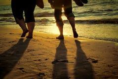 Walk barefoot Stock Image
