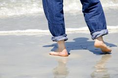 Walk on the Beach Stock Image