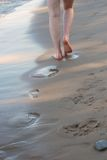 Walk on the beach Royalty Free Stock Photo