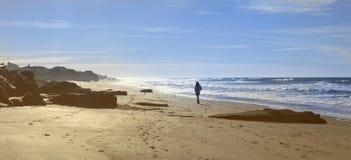 A walk on the beach   Nostalgias Royalty Free Stock Photo