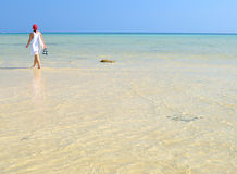 Walk on the beach. Phi Phi islands Royalty Free Stock Image