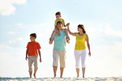 Walk on the beach Stock Image