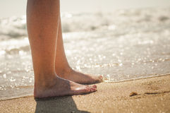 Walk on the Beach Royalty Free Stock Photography