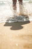 Walk on the Beach Royalty Free Stock Images