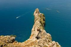 Walk on a beautiful yacht. Walk on a beautiful yacht in Mediterranean sea, Alanya Royalty Free Stock Photo