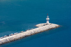 Walk on a beautiful yacht. Walk on a beautiful yacht in Mediterranean sea, Alanya Royalty Free Stock Photography