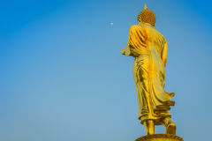Walk behind of the Buddha. Royalty Free Stock Image