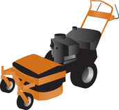 Walk Behind Mower Royalty Free Stock Photo