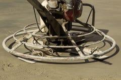 Walk-behind power trowel machine Royalty Free Stock Photo