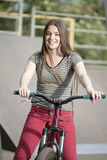 Walk on a bicycle Stock Photography