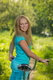 Walk on a bicycle Royalty Free Stock Images