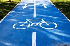 Walk and bicycle way Royalty Free Stock Photography