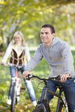 Walk on bicycles Royalty Free Stock Image