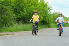 Walk on bicycles Royalty Free Stock Photo