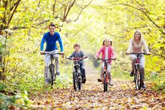 Walk on bicycles Stock Photo
