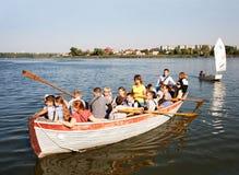 Walk in boat Stock Image