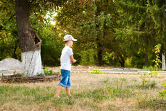 Walk boy Royalty Free Stock Photo