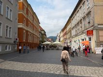 A walk in Brasov, Romania Royalty Free Stock Photos