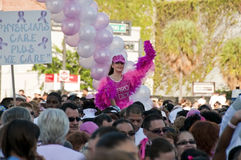 Walk for Breast Cancer cure. Royalty Free Stock Photo