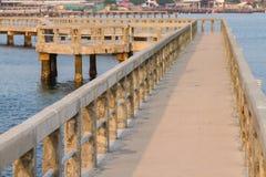 Walk bridge in the sea Stock Image