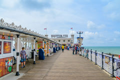 Walk on Brighton Pier. A Walk on Brighton Pier on a sunny day stock photography