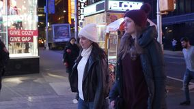 Walk at Broadway New York and Times Square by night