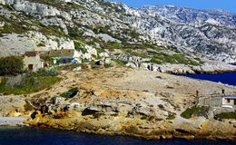 Walk in the calanques Royalty Free Stock Image