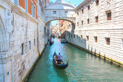 Walk through the canals in Venice Royalty Free Stock Image