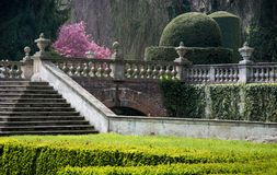 Walk in the castle garden Royalty Free Stock Photography