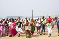 Walk Celibrating Heritage Day in Durban South Africa. DURBAN, SOUTH AFRICA - SEPTEMBER 24, 2014: DURBAN, SOUTH AFRICA - SEPTEMBER 24, 2014: National Heritage Day stock photos