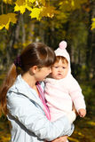 Walk with the child Stock Photography