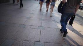 Walk through the city Stock Image