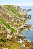 A walk on the cliffs around Camaret, Crozon, Brittany Stock Image