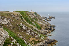 A walk on the cliffs around Camaret, Crozon, Brittany Royalty Free Stock Image